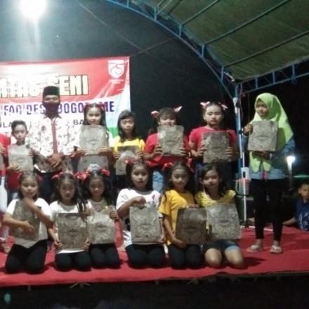 Pentas Seni Forum Anak Desa (FAD) Desa Bogorame Dalam Memperingati Hari Kemerdekaan RI yang ke-75